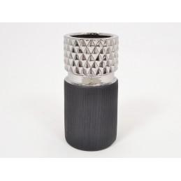 VASE DIAMANT GRIS/NOIR 21 cm