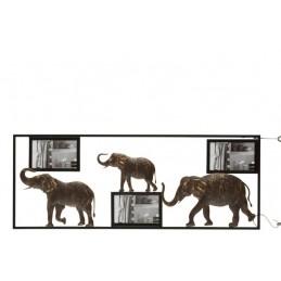 CADRE PHOTO ELEPHANTS