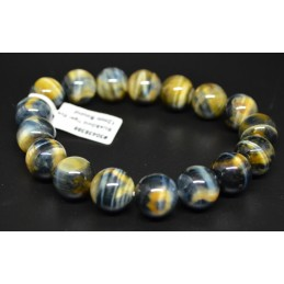BRACELET 12MM BLUE ET GOLD...
